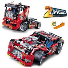Race Truck Car 2 In 1 Transformable Model Building Block Sets 3360 DIY Toys