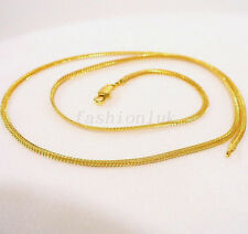 24K Yellow Gold Plated Women Girl Child Small Chain 50cm 19.5 inch Necklace Gift