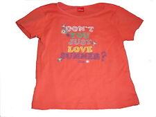 s. Oliver tolles T-Shirt Gr. 116 / 122 orange mit Schrfitzugdruck !!
