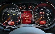 Audi TT MK2 Zierblenden Tacho 4teilig Alu quattro s-line 8J TTs TTRS 3.2 3,2