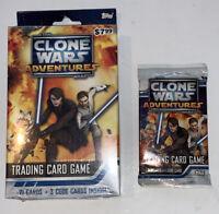 2011 Topps Star Wars Clone Wars Adventures Trading Card Game Starter Deck