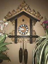 Large Beautiful German Black Forest Carved 8 Day Cuckoo Clock