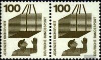 BRD (BR.Deutschland) 702A waagerechtes Paar postfrisch 1971 Unfallverhütung