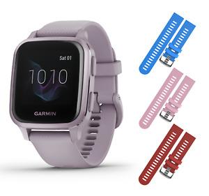 Garmin Venu Sq GPS Fitness Lavender/Purple Smartwatch with Blue/Pink/Red Straps