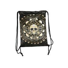 Skull Satchel  Lady Back Pack  Carry Bag Travel Fantasy Draw string Shoulder