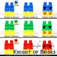 LEGO Minifigure Legs Green Blue Red Hips and Legs with Yellow Boots