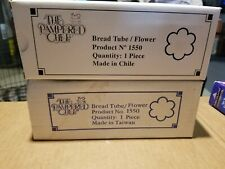 Two The Pampered Chef Bread Tube Flower Shape #1550 Bread Baking Pan 1 Nib