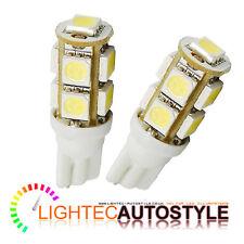 2 x 9 SMD LED Xenon bianco puro LED 501 T10 W5W Interni Lampadina Luce Laterale Lampadine