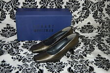 STUART WEITZMAN Ash Quasar Patent Leather Olive Heels~Size 6 B
