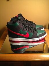 Nike SB Dunk High Prm RESN DENIM FOREST GREEN PAPRIKA Deadstock 9 Skunk TIFF