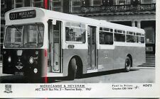 Pamlin repro photo postcard M2475 Morecambe & Heysham AEC Swift Bus No.5 1967