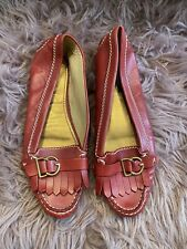 Woman's Dolce & Gabbana Red Fringe Loafer Size 37