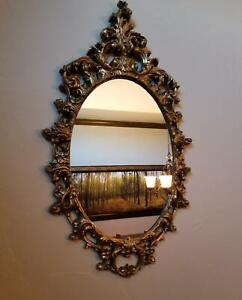 Vintage Turner Wall Accessory Gold Tone Mirror