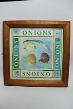 3X Vintage Farmhouse Style Wall Art Picture of Onions/mushrooms/peppers