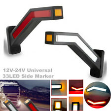2PCS Car LED Side Marker Light Lamp For Trailer Truck Van 12V-24V Indicator Kit