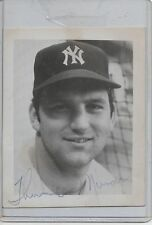 THURMAN MUNSON AUTOGRAPHED 4 X 5 PHOTO RARE - NEW YORK YANKEES JSA COA