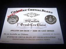 etiquette vin Chateau Cheval Blanc 1979 75CL specimen wine label wein etikett