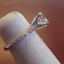 2.30 Ct Round Cut Diamond Engagement Ring 14K Solid White Gold VVS1/D Size J K I
