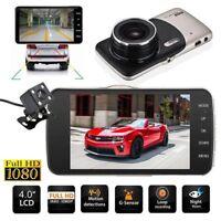 """4"""" Dual Lens Camera HD 1080P 170° Car DVR Video Dash Cam Front Rear Recorder"""