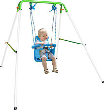 Heavy Duty Toddler Baby Swing Set Play Rocker Indoor Outdoor With Safety Harness