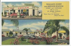WALLACE COURT & SINCLAIR SERVICE,GAS STATION~FORT MYERS,FL -CT 1952