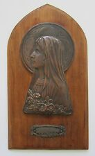 "French Art Nouveau 1920's Rochefort ""Mary"" Brass Plaque"
