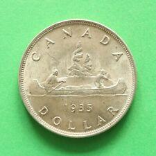 1935 George V Canada Silver Voyager Dollar Full waterline SNo57198