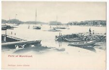 Sweden; Marstrand, Small Boats in Harbour & Anchored Steamer PPC, UB, Unused