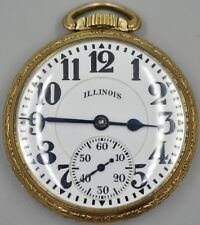 Illinois Watch Co. Bunn Special Pocket Watch 60Hr 21j #5176719 Running on Time