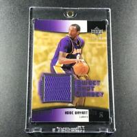 KOBE BRYANT 2004 UPPER DECK SWEET SHOT GAME WORN PURPLE JERSEY CARD LAKERS NBA