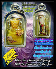 Charming Mermaid Ending Legend LP Arjarn O Thai Amulet Very Lucky FREE NECKLACE
