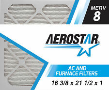 Aerostar 16 3/8x21 1/2x1 MERV  8,  Air Filter, 16 3/8x21 1/2x1, Box of 6