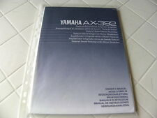Yamaha ax-392 owner's manual operating instructions instructions NEW