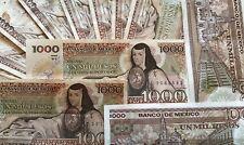 CIRCULATED Mexico Banknote 1000 Pesos Paper Money - Mexican bills Mil BDM