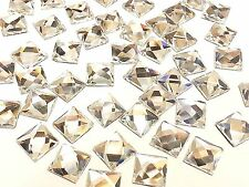 sq8- 50 x 8mm Carré Fixation à chaud facettes verre cristal strass gemmes BLING