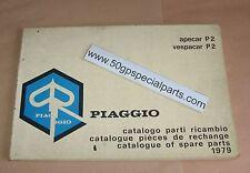 Piaggio apecar p2 vespacar p2 parts catalogue 1979