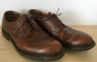 MEPHISTO Brown Pebbled Leather Lace Up Oxfords Dress Shoes Size 12