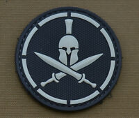 "PVC / Rubber Patch ""Spartan Roger"" Black with VELCRO® brand hook"