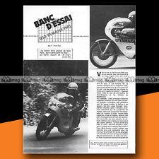 ★ YAMAHA 250 PMS (Sur Base RD 250) ★ 1975 Article de Presse Essai Moto #b236