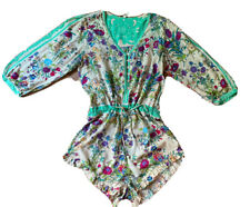 Spell & The  Gypsy Collective Size XS Floral V Neck  Button Up Short Playsuit