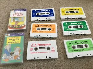 Pampers promo Children's Cassette Tapes X6(1986)+2 PG TIP Cassette Tapes.