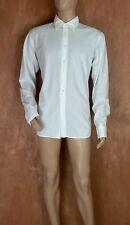 NWOTs Miu Miu white dress shirt Sz 42/16.5 textured collared button down long