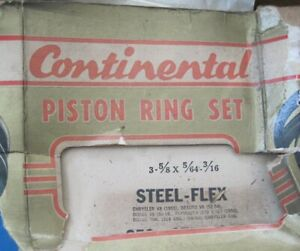 NOS full piston ring set STD 1952-1959 Dodge DeSoto Chrysler Plymouth see desc.