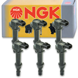 6 pcs NGK Ignition Coil for 2005-2008 Jeep Grand Cherokee 3.7L V6 - Spark cy