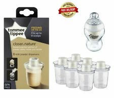 Tommee Tippee Milk Powder Dispensers BabyTravel Milk Storage Pots Pack of 6