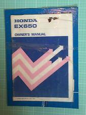HONDA EX650 MOTORCYCLE OWNERS MANUAL