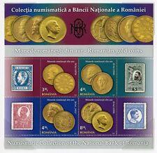 Rumänien Romania 2013 Goldmünzen Gold Coins Block plus FDC im Folder Auflage 400