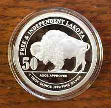 1 OZ. *2016* LAKOTA INDIAN *PROOF* .999 SILVER COIN*CRAZY HORSE BUFFALO* ROUND