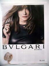 PUBLICITE-ADVERTISING :  BULGARI Bzero1 Bague Collier  2015 Carla Bruni,Bijoux