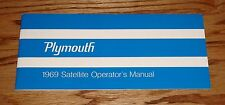 1969 Plymouth Satellite Owners Operators Manual 69